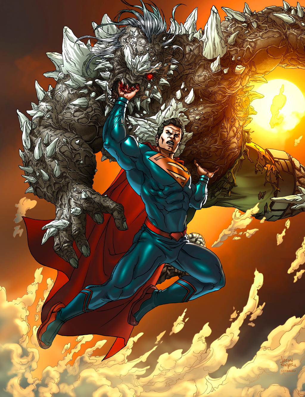 Superman v Doomsday by 133art