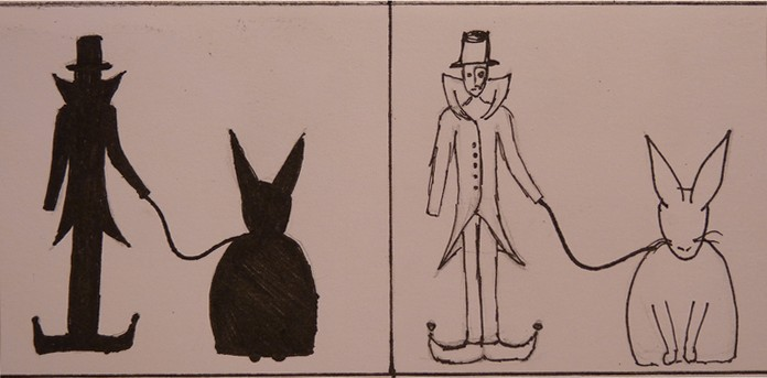 Rabbit and the clown by AryaFT