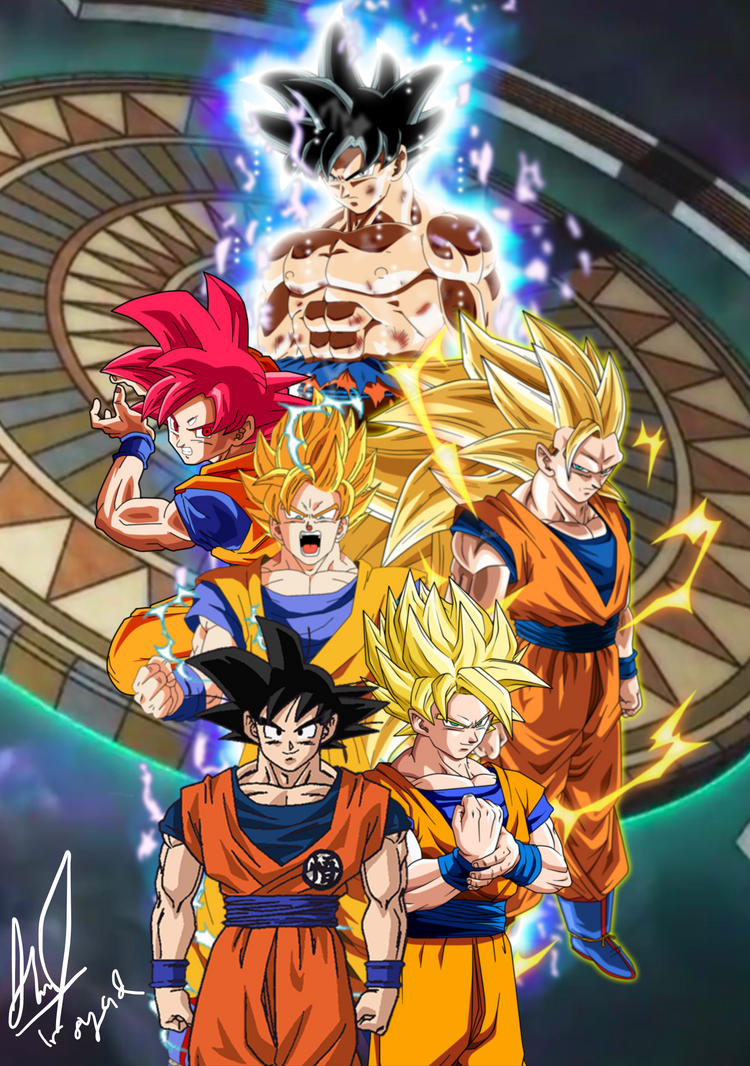 The Evolution Of Goku's by AZSYAD