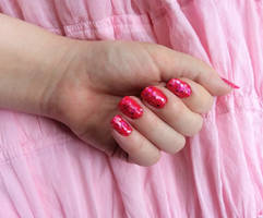 Noob Nail Art -- Pretty in Pink