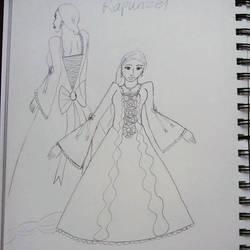 Rapunzel in a Beautiful Dress