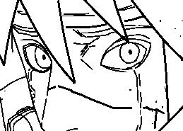 Naruto Chapter 645 - Minato's Tears Lineart by kage-niji