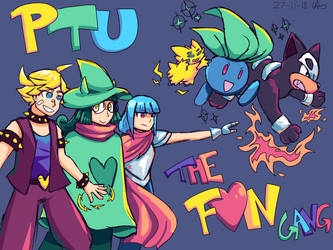 PTU x Deltarune Crossover - The Fun Gang by kage-niji