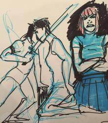 Random doodles by Birdalee