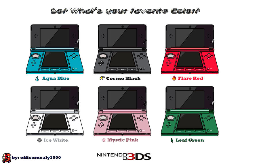 Nintendo 3ds Colors Cases 3DS Colors by o...