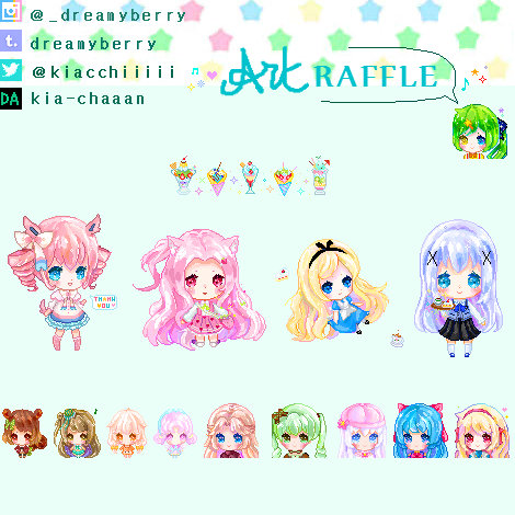 [closed]Pixel art Raffle by Kia-chaaan