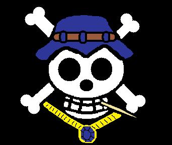 Blue Necklace Pirate's flag by Kintow