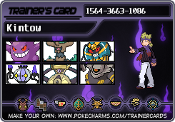 My trainer card! by Kintow