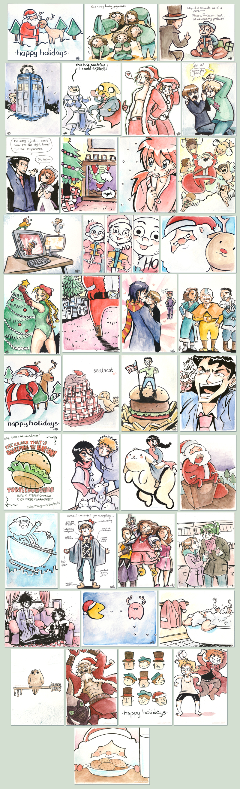 holiday cards 2010 by kelvarin