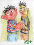 Ernie and Bert are sooo cute.