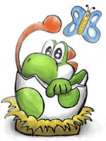 Yoshi Egg Hatched by BoshyPastrana