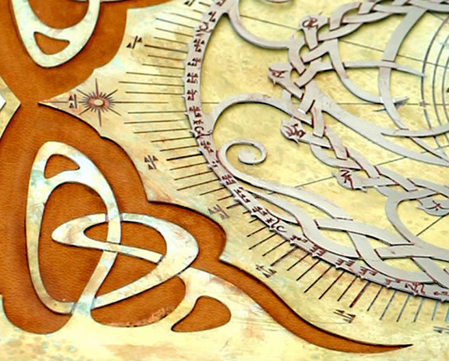 Closeup of Astrolabe Book2 by TimBakerFX