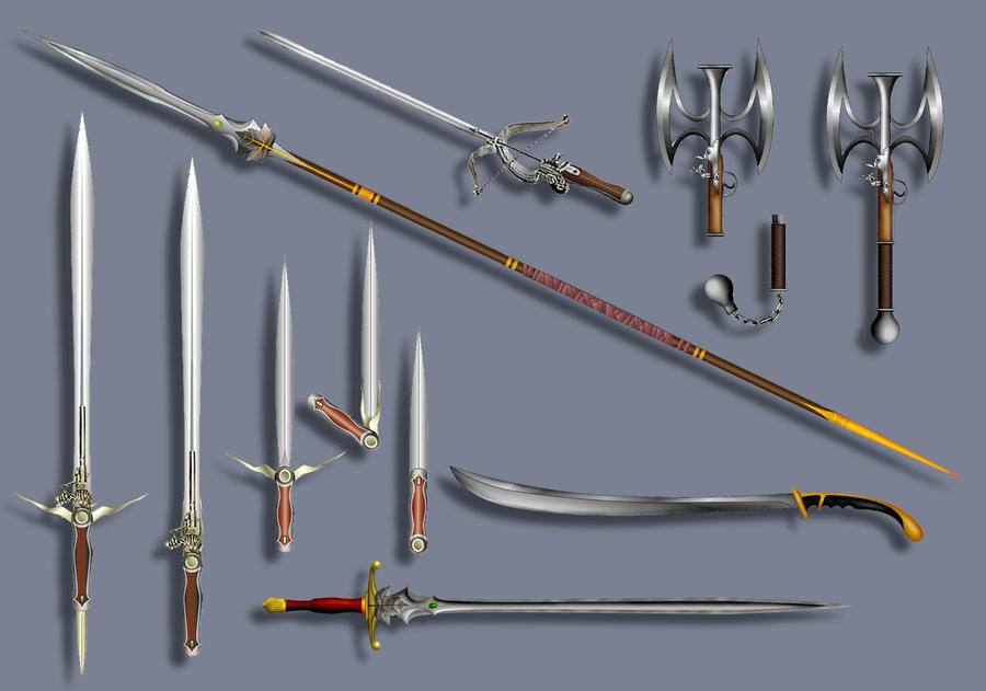 Fantasy weapon designs weapon designs by timbakerfx