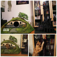 Scratch Post And Hobbit Hole