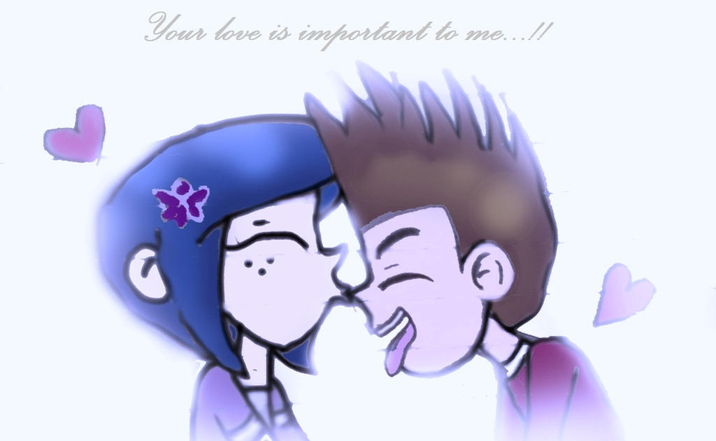 Norman And Coraline Kiss: Kiss My Nose...Coraline And Norman !! By CoralineXnorman