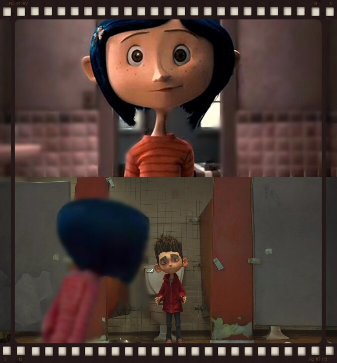 Coraline and Norman hahaha! The bathroom by ...