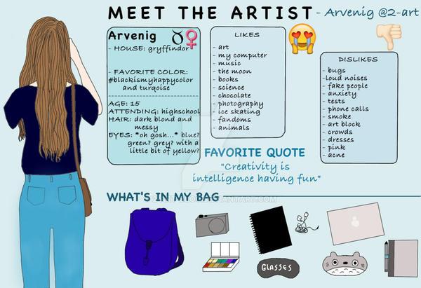 Meet The Artist post by 2-art-blog