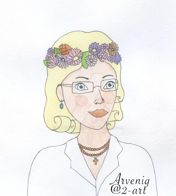 Grandma portrait by 2-art-blog