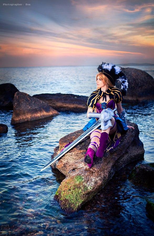 Nia on the sea by SaekoHatake