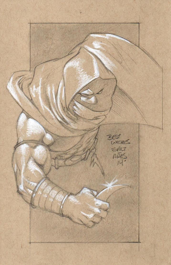 Moon Knight for Kara's son by saltares