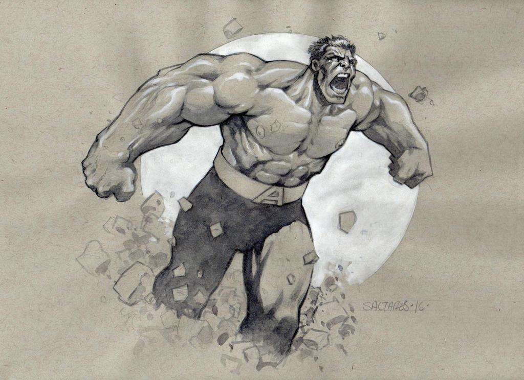 Avenger Hulk by saltares