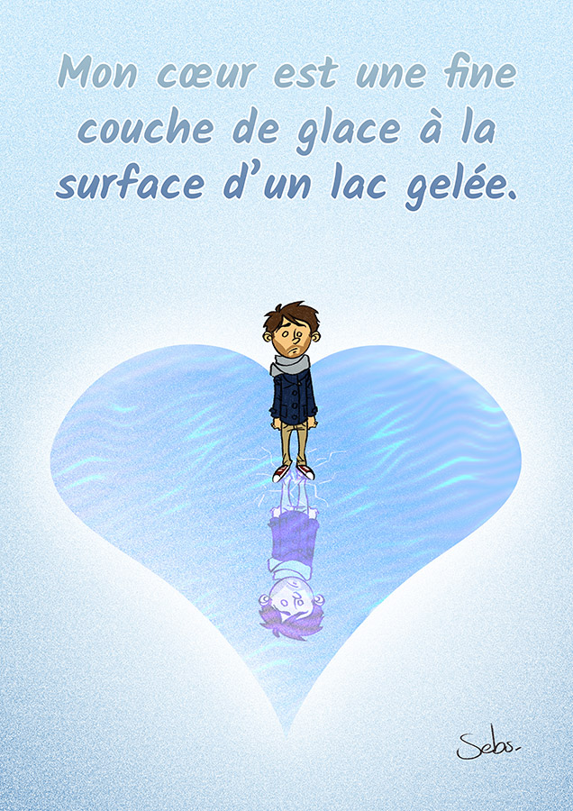 My heart is a thin layer of ice on a frozen lake by Sebs-DA