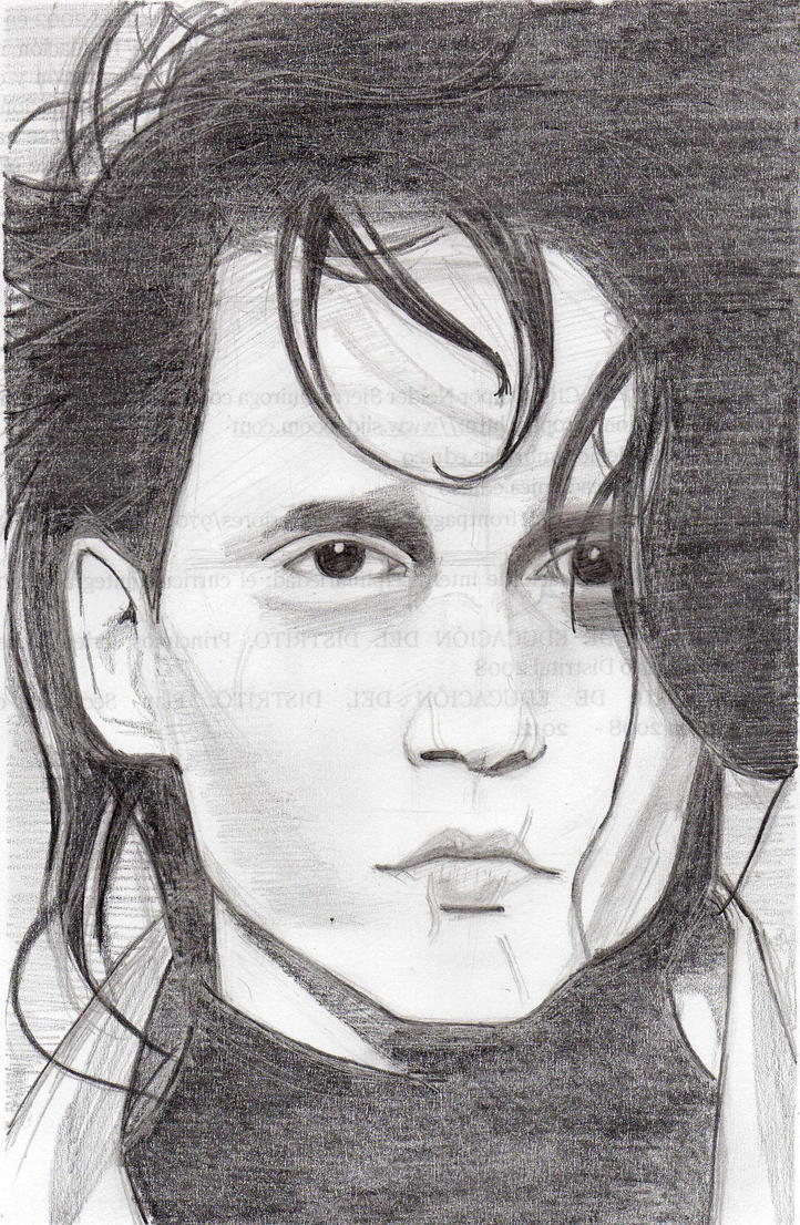 how to draw edward scissorhands