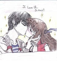 kissing again by mon09