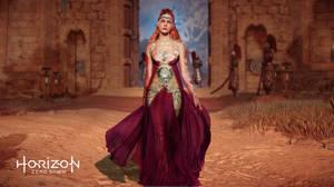 Horizon Zero Dawn Aloy purple dress