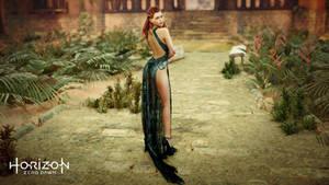 Aloy black lace dress