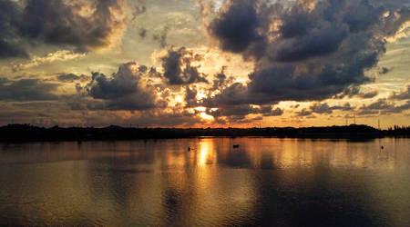 Sunset Waduk Lhokseumawe