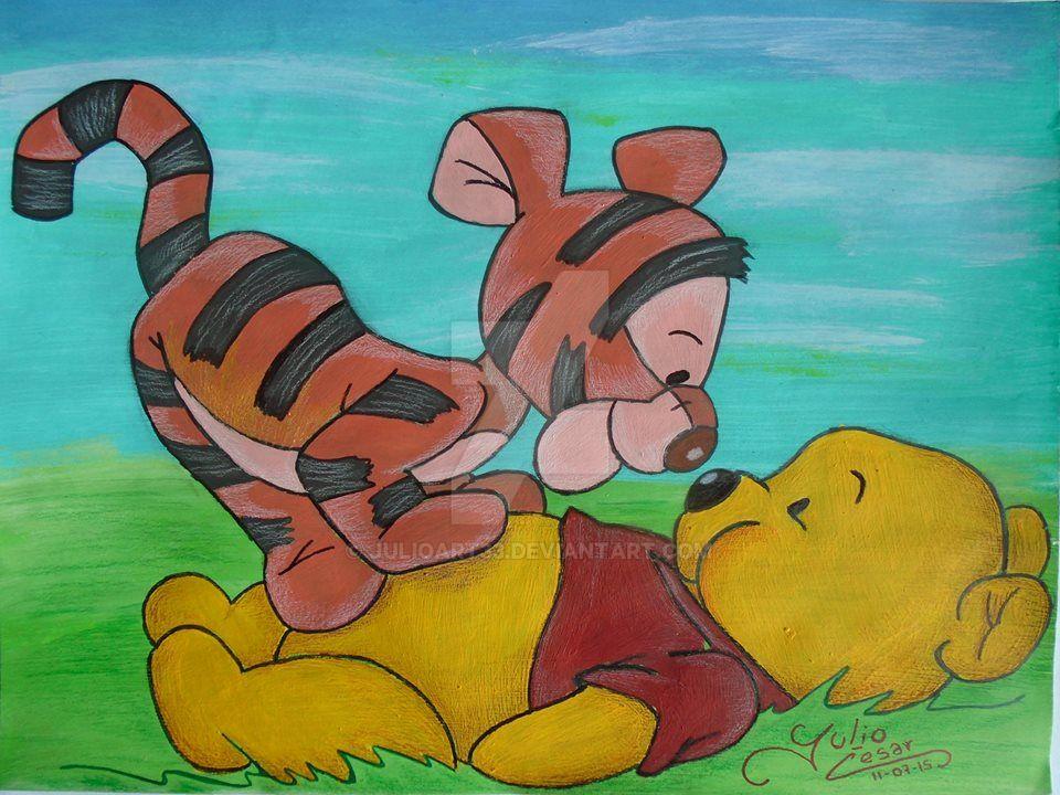 Winnie the pooh y tiger by JulioArt33