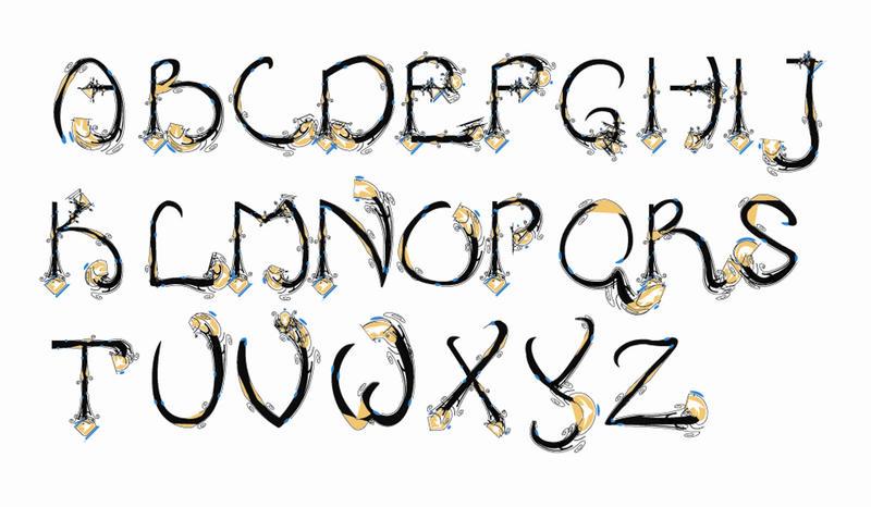 decorative httpwwwokaygreatcomwp contentuploads200901kewljpg - Decorative Fonts