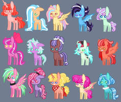 MLP Adopt batch #1 (2/15 OPEN) by Natgasher