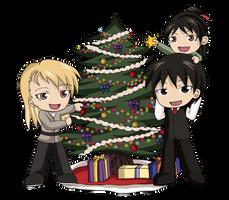 Royai Family Christmas by Heza-chan