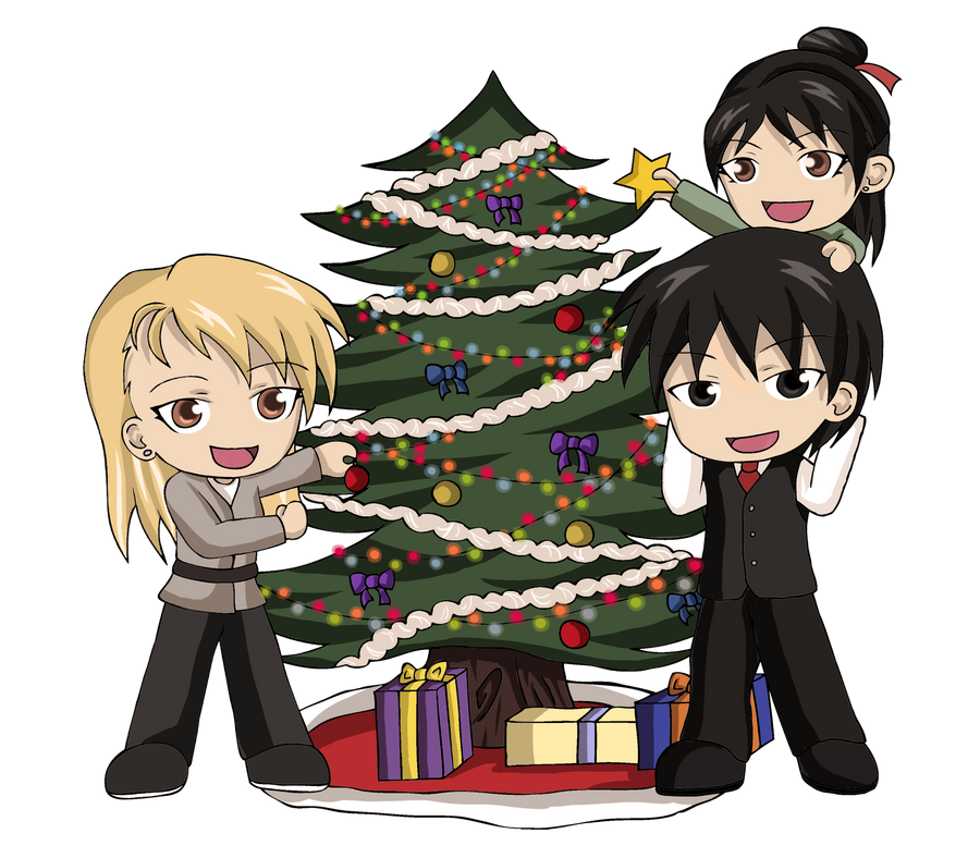 Royai Family Christmas by Heza-chan