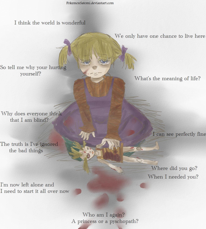 My world slowly crumbling away by PokemonSatomi on deviantART