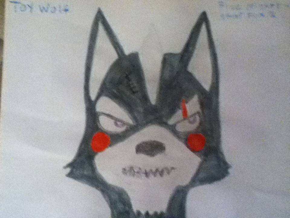(FNAF 2 crossovers) Star Fox Toy Wolf O'Donnell by SonicStarWolfshadow2