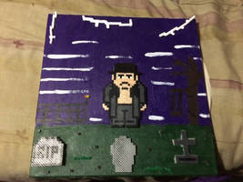 WWE The Undertaker Perler Bead on Canvas