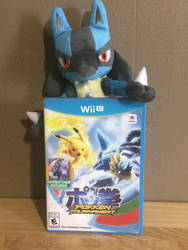 Lucario Plush and Pokken Tournament