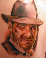 Indiana Jones Tattoo by shinigami-sama
