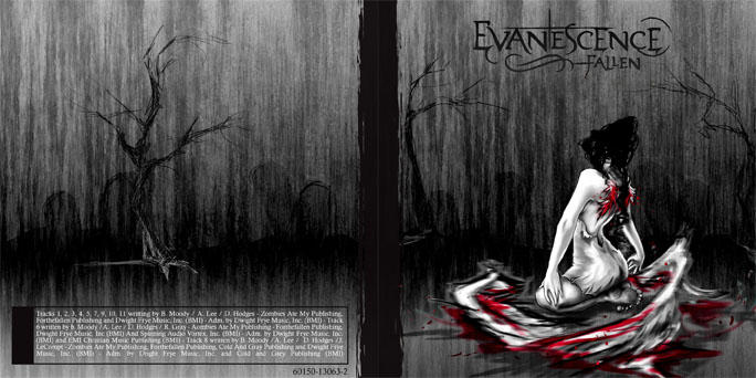 Evanescence CD Redesign Final by shinigami-sama