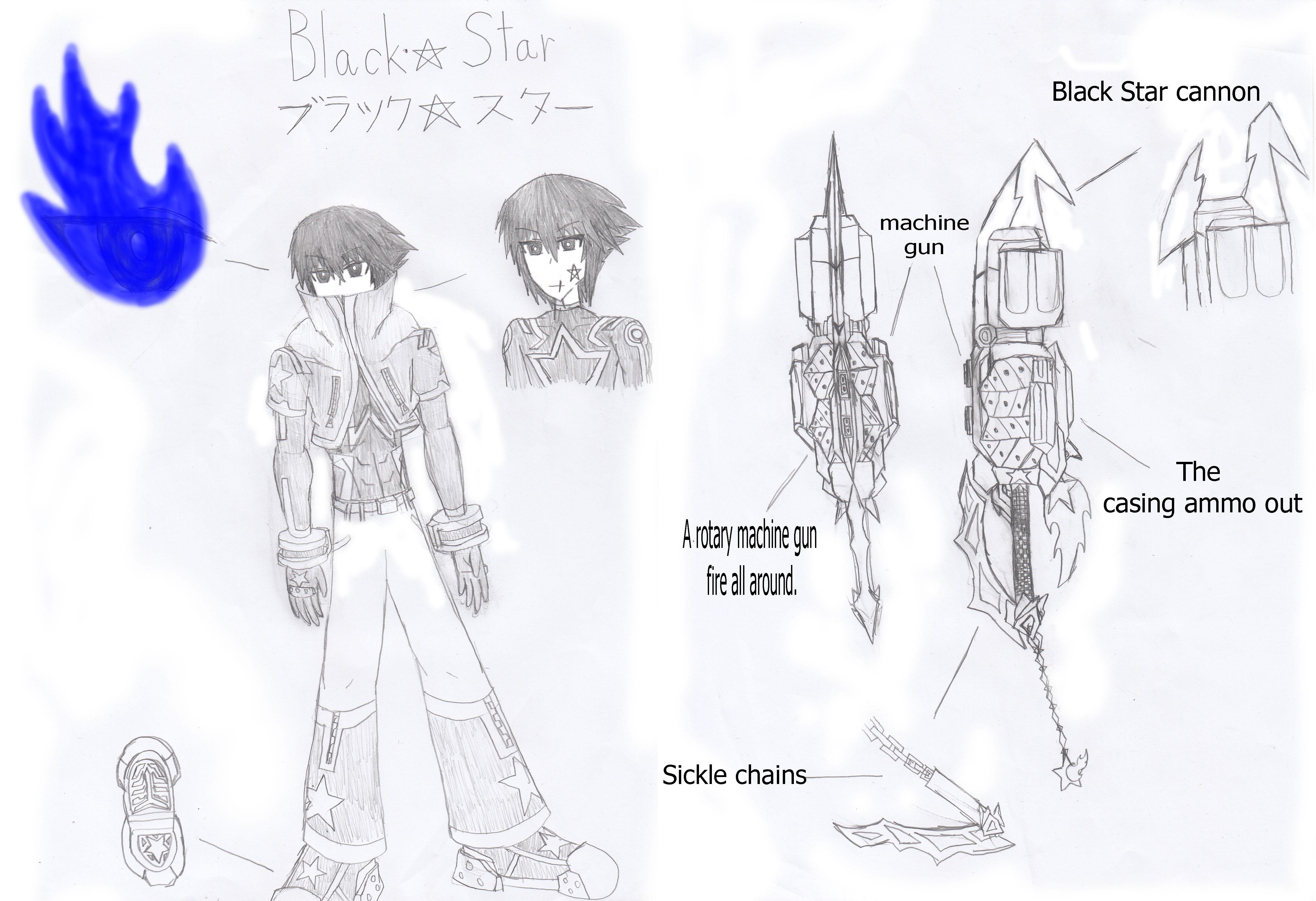 Black Star shooter : Kingdom Hearts OC by Takeru-KHOC