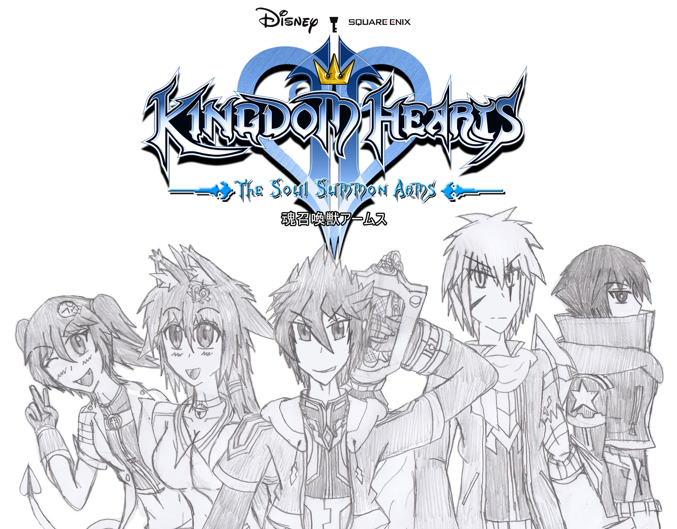 Group Photo Protagonist : Kingdom Hearts the Soul by Takeru-KHOC