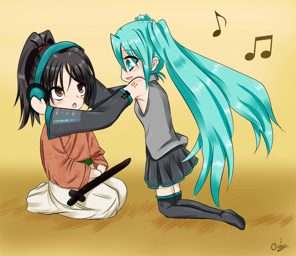 Chizuru and Miku ~ Chibi by Diamond-Drops