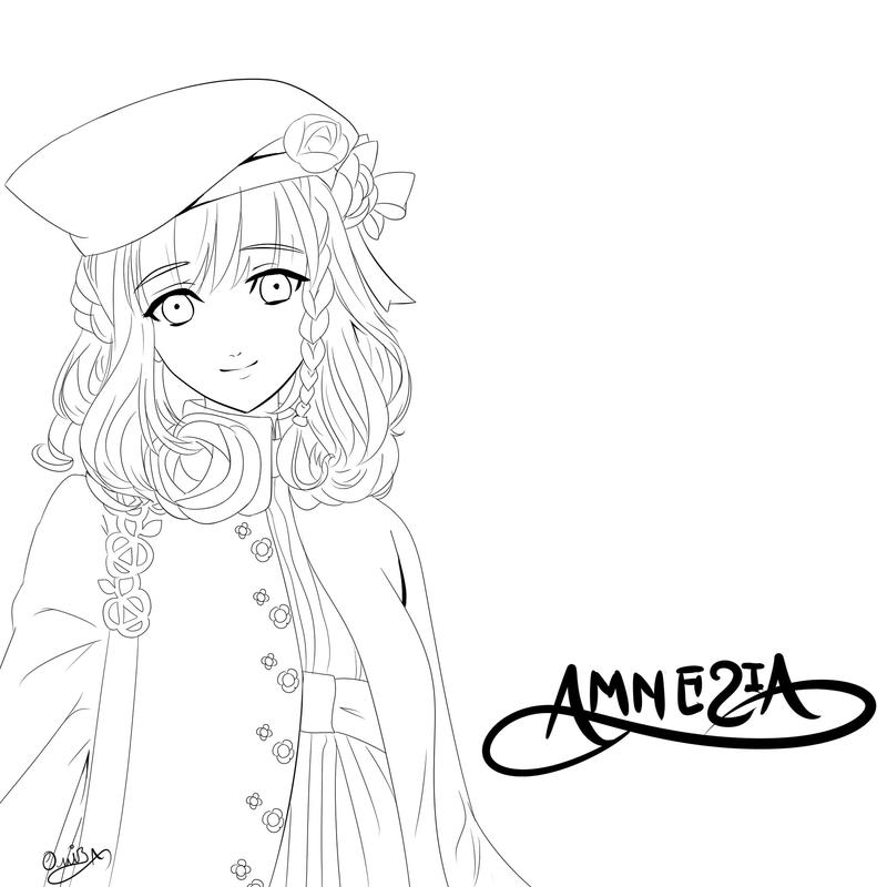 AMNESIA Heroine LineArt by Diamond-Drops