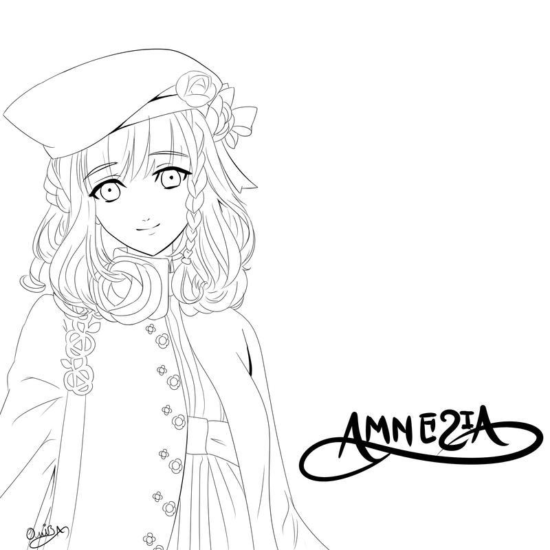 AMNESIA Heroine LineArt by Diamond-Drops