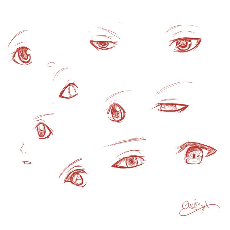 anime male eyes - 894×894