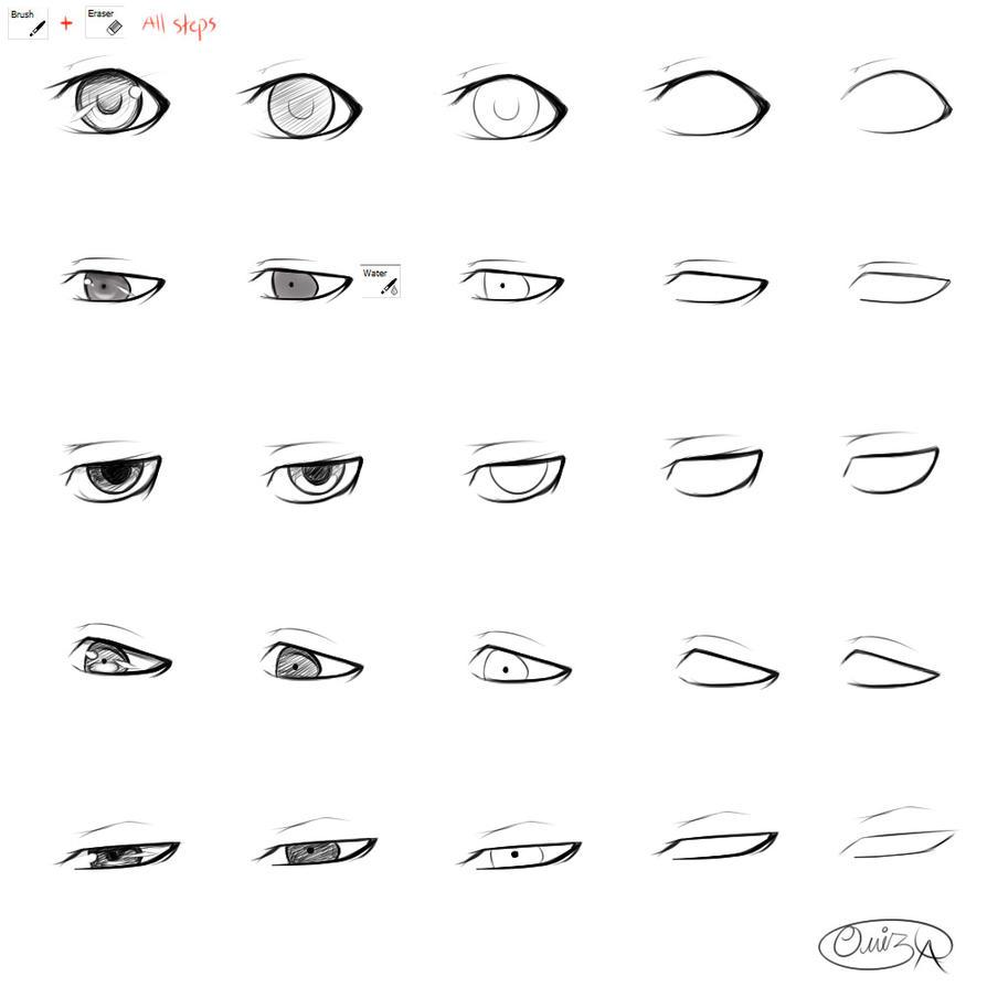 Male eyes steps by diamond drops on deviantart
