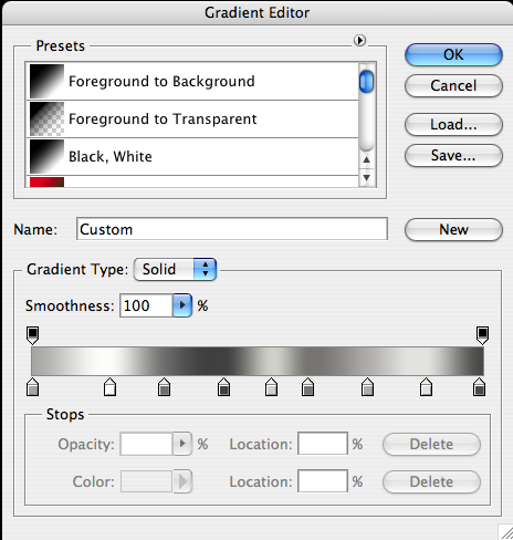 Silver Gradient For Photoshop by Shades121